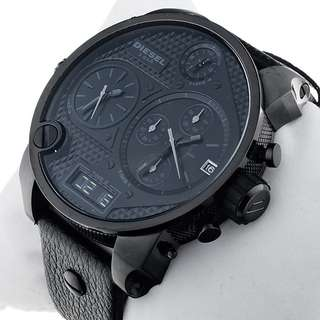 Diesel Mrdaddy Black Men's Dz7193 Leather Watch