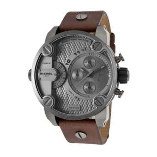 Diesel Littledaddy Grey Men's Dz7258 Leather Watch