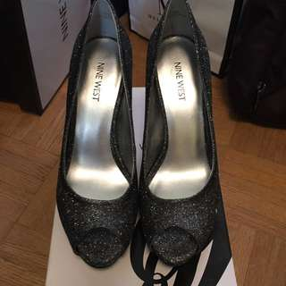 Nine West Sparkle Heels - Black