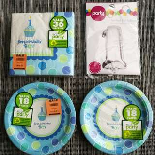 Baby First Birthday Party Set
