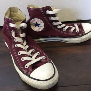 Burgundy Converse Chuck Taylor High Top