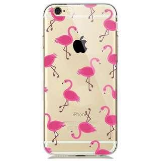 iPhone 7 Plus Silicone Case - Pink Flamingo