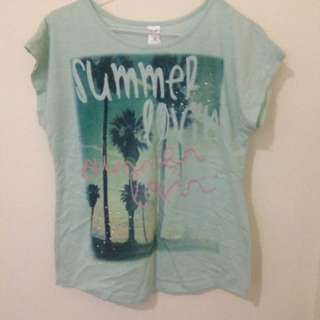 Mint Printed Top | SZ:8