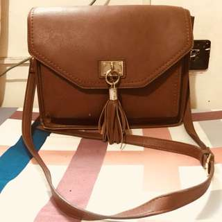 ALDO Leather Bucket Bag