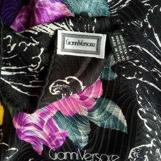 Authentic giani versace silk scarf