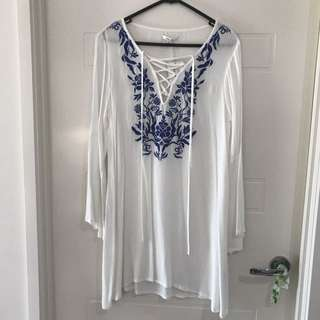 White beach dress (size 10)
