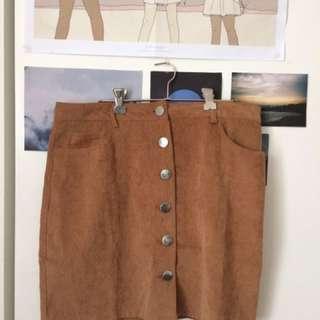 Boohoo Corduroy Mini Skirt