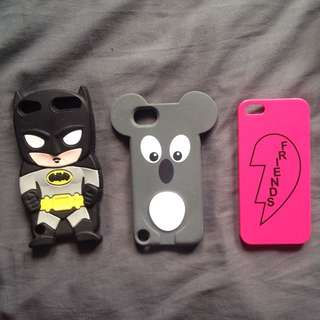 iPod 5 soft case and iPhone 5 hard case