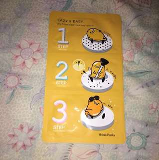 Holika Holika - Pig-nose Clear Black Head 3-Step Kit (Gudetama Lazy & Easy Edition)