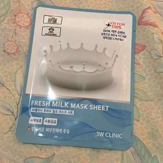 3W Clinic- Fresh Milk Mask Sheet