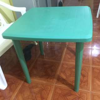Monoblock table and double seat