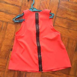 Pink Manila Red sleeveless top