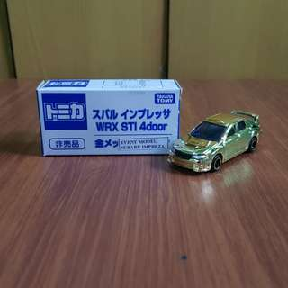 Subaru WRX STI Impreza TOMICA Model Event GOLD Edition