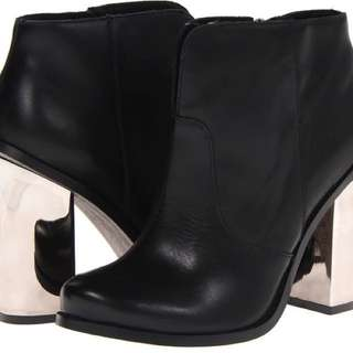 Black Booties Metal Heel- Chinese Laundry