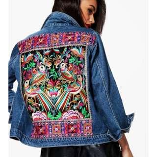 Festival Embroidered Denim Jacket