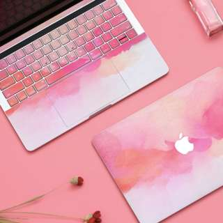 Abstract Brush Blush Pink Macbook Vinyl Decal