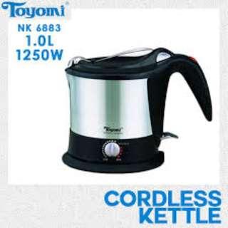 TOYOMI Noodle Kettle S/S Cordless (1.0 Litres) NK 6883