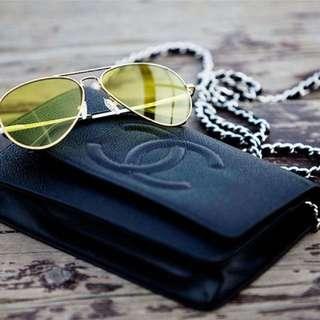 Chanel Black Caviar Timeless Wallet On Chain SHW