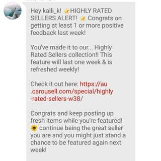 Highly rated seller W38! Check out my items 😊