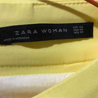 Zara woman mini yellow skirt