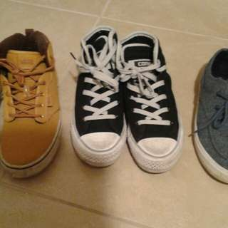 Boy's shoes size 3, 4 and 5