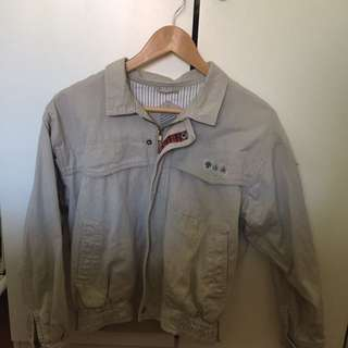 Vintage Embellished Flight Jacket from the 80s!
