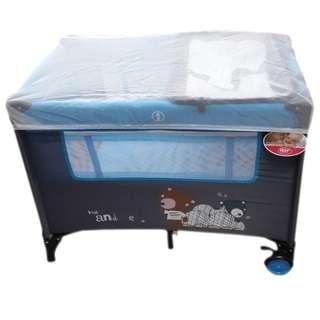 Irdy Portable Space Saver Crib Playpen (blue)