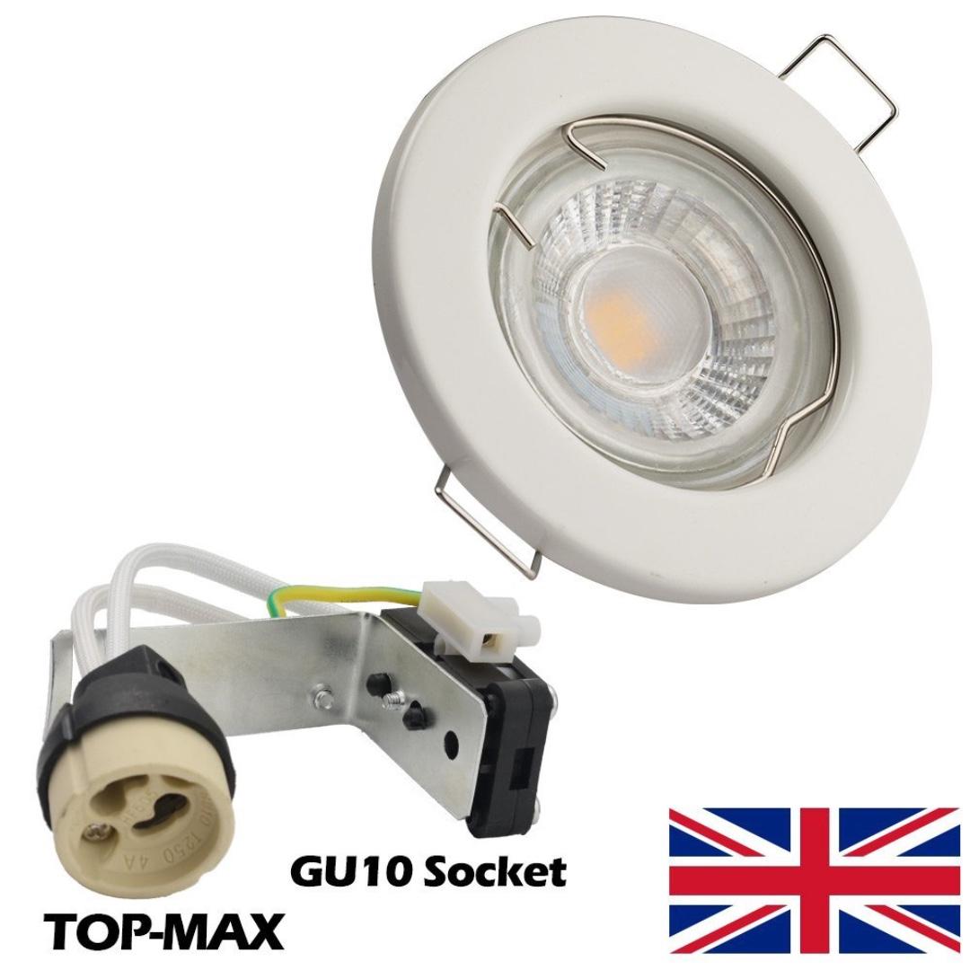 10 x TOP-MAX Recessed Spotlight Ceiling Lighting Downlight LED GU10 ...