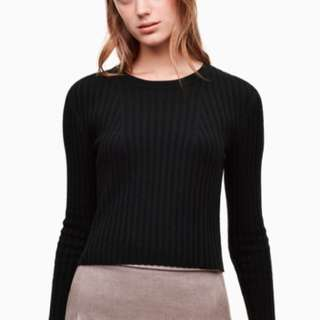 Aritzia Nathaniel sweater black small