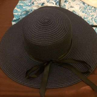 Summer hat (navy) #prelovedkusayang
