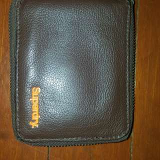 Superdry leather zipper wallet (repriced)