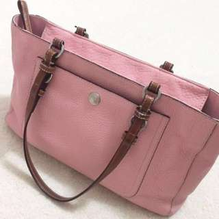 Authentic Pink Coach Leather Bag