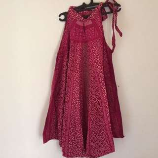 Dress Batik Tali Samping