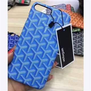 Goyard leather back case
