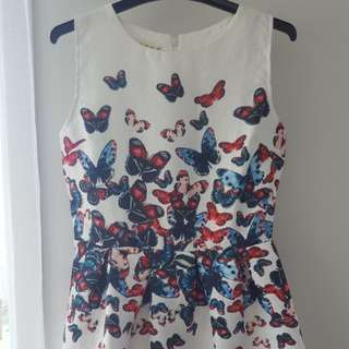 Cute white butterfly dress