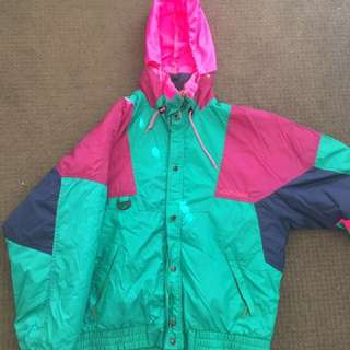 Neon retro ski jacket