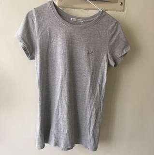 灰色純棉修身上衣