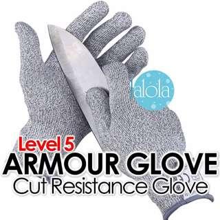 ✔FREE POSTAGE: Diamond Back® Cut Resistance Gloves Level 5