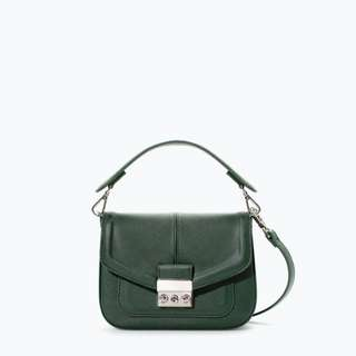 REPRICED ZARA Army Green Mini Messenger Bag
