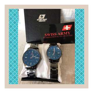 🚨SALE! AUTHENTIC SWISS ARMY ⌚️ COUPLE WATCHES