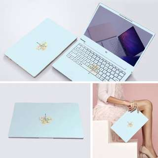 Blue Classic flower Laptop Decal Sticker skin