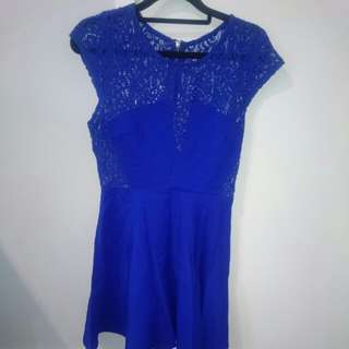 Blue Lace Dress- Size 6/8