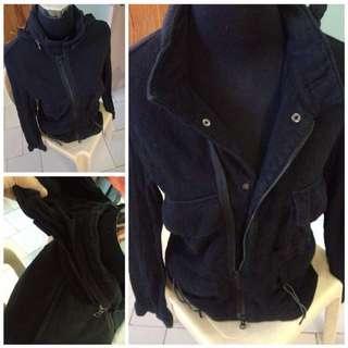 Black Jacket with hidden hoodie REPRICED!!