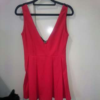Red dress -Size M