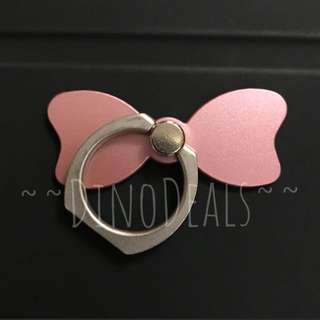 Pink Bow Tie Phone Holder Ring