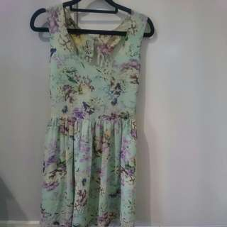 Sass printed dress - Size 8