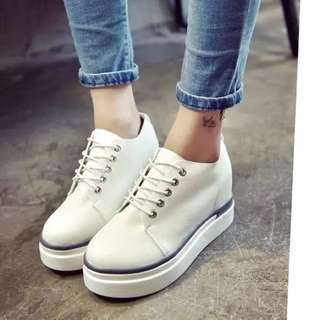 High Heels Sports shoes (White)