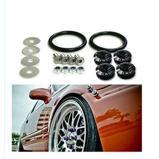 JDM - Quick Release Fasteners For Car Bumpers Trunk Fender Hatch Lids Kit.