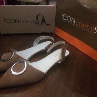 ICONINETY9 SHOES BROWN