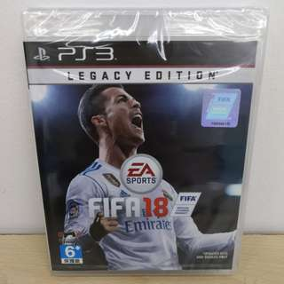(Brand New) PS3 FIFA 18 Legacy Edition / R3